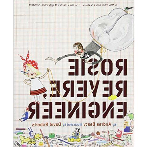 该 cover of the book Rosie Revere, Engineer by Andrea Beaty featuring Rosie wearing a red headscarf