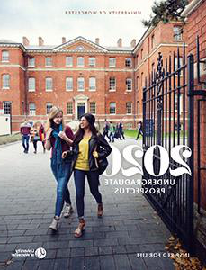 Cover of the 2020 University of Worcester prospectus