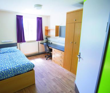 An en-suite bedroom at St Johns Campus