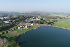 Aerial view of Lakeside campus