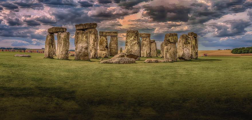 Stonehenge under a cloudy sky